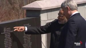 Modi, Harper visit Air India memorial site