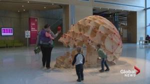 Giant skull adds to the Halloween fun in Calgary