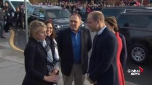 Prince William, Kate Middleton greet 'freezing' fans at Yukon history museum
