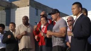 Pro wrestlers, NFL linemen, and martial artists arrive in North Korea for sports 'exhibition'