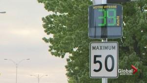 Electronic radar speed signs installed in school zones