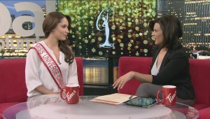 Miss Universe Canada is flipping pancakes for a good cause
