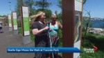 Braille on Trillium Park board map printed on flat board
