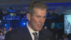 Premier-Elect Brian Pallister after winning the election