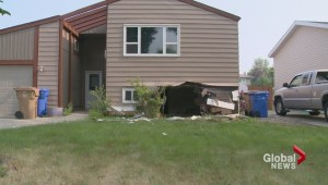 Car smashes into Regina home