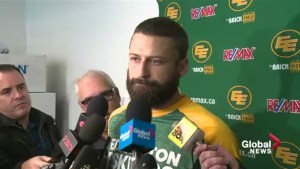 Edmonton Eskimos QB Mike Reilly on CFL East final loss