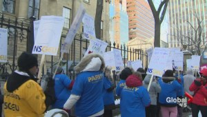 Nova Scotia won't negotiate with health unions