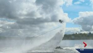Flyboarding becoming more popular in Alberta