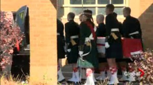 Cpl. Nathan Cirillo brought home on the Highway of Heroes