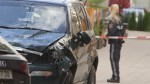 Aftermath footage of van attack in Austria