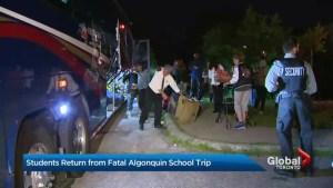 TDSB students return from fatal Algonquin school field trip