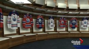 Take a tour inside the Edmonton Oilers dressing room