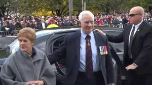 Governor-General of Canada David Johnston arrives at National War Memorial