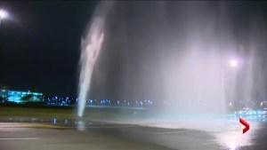 Scarborough watermain burst creates geyser, floods street