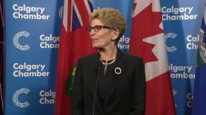 Kathleen Wynne responds to Alberta legislature reaction