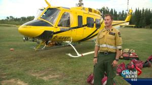 What does it take to fight Alberta wildfires by air?