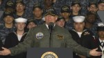 President Trump says he insisted on wearing bomber hat, navy cap