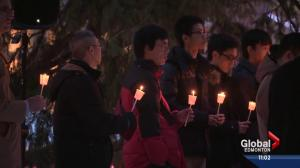 Candlelight vigil held at U of A to honour crash victims