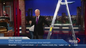 Lexi the dog on Letterman