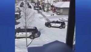 Raw: Edmonton police perform CPR on suspect