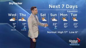 Global Edmonton weather forecast: May 16