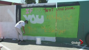 Surrey RCMP officer helps create positive graffiti