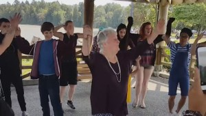 Surprise birthday flash mob for B.C. grandmother who wished life was a musical