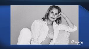 73-year-old Lauren Hutton models underwear for Calvin Klein