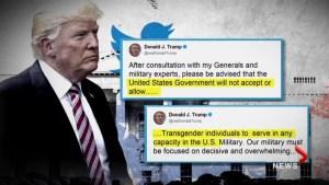 Protests against Trump tweets banning transgendered soldiers held across U.S.