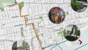 Montreal urban walkway