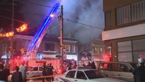 Crews battle 5-alarm blaze in downtown Toronto