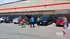 Video captures brawl at Costco parking lot