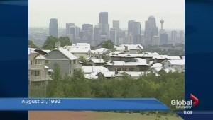 Summer snow shocks southern Alberta