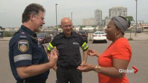 Exclusive: Stroke patient reunites with paramedics who saved her life