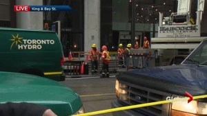 Toronto Hydro crews work to repair damage after vault fire and determine cause