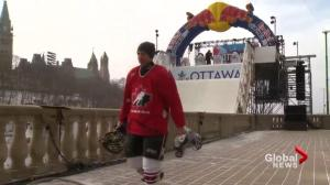 Global National reporter tackles Ottawa's Red Bull Crashed Ice track