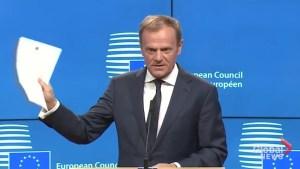 EU head: 'No reason to pretend it's a happy day'