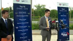 Top 10 worst roads in Ontario announced