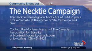 Community Events: The Necktie Campaign
