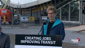 Kathleen Wynne optimistic about progress of Yonge-Spadina subway extension