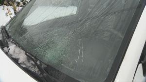 Ice bombs fall from Alex Fraser Bridge onto B.C. driver's car