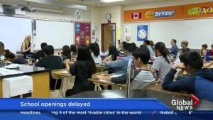 Raining summer delays new Calgary schools