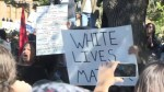 Black Lives Matter supporters protest against 'White Lives Matter' demonstrators