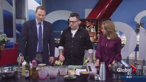 Saturday Chefs: Beet Salad with Egg Nog Foam