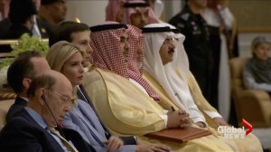 Wilbur Ross appears to nod off during Trump's speech in Saudi Arabia