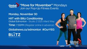Join our Move for Movember HIIT workout at Global Edmonton