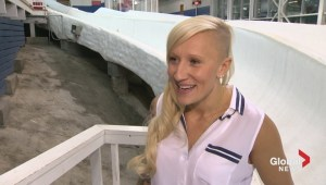 Kaillie Humphries pushes forward