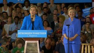 Hillary Clinton, Elizabeth Warren campaign together in Massachusetts