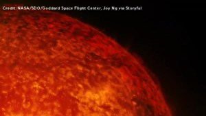 NASA captures solar material activity on sun's surface