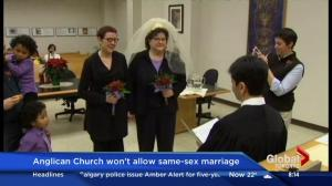 Anglican church won't allow same-sex marriage